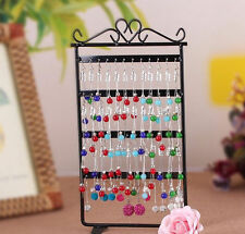 48 Hole Earrings Ear Studs Jewelry Display Rack Metal Stand Holder Showcase SY