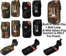 Cover Pouch w/Metal Clip TO fit Lifeproof Case FOR ALL Large Smart Cell Phones