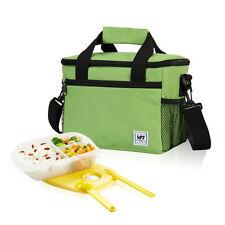 Portable Thermal Insulated Portable Lunch Box Picnic Tote Storage Case Bag Pouch