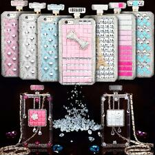 For Apple iPhone 6 / Plus Bling 3D Rhinestone Clear Protective Hard Case Cover