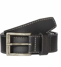 "WRANGLER GENIUNE LEATHER BASIC STITCHED BELT IN BLACK IN SIZE XS(32"")-XXXL(46"")"