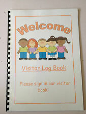 A4 Childminding Book - Visitor/Guest Log Book choice of designs / personalised