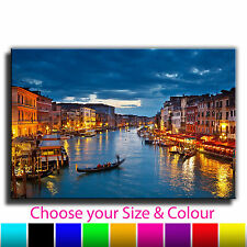 Venice Grand Canal Single Canvas Wall Art Picture Print 1