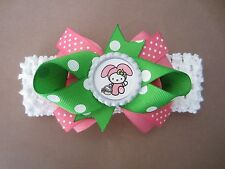 Easter Hello Kitty Hair Bow Infant Toddler With or W/O Headband *SHIPS FREE*USA