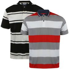 Mens Kensington Eastside Striped Short Sleeve Collared Polo Shirt Top Size S-XL