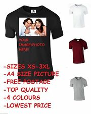 Your Image Photo Here Custom top tee Personalised Stag Hen Print Gift (T-Shirt)