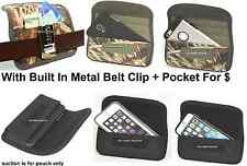 Holster+Metal Belt Clip Horizontal Wallet Pouch To Fit With Spigen Case Cover On