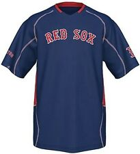 Boston Red Sox Majestic Men's Fast Action Jersey Navy Blue Big And Tall Sizes