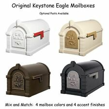 Keystone Mailbox - Eagle Design - Gaines Aluminum Mail Box with Optional Post