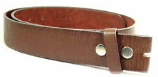 """Genuine Leather Chocolate Brown Belt Strap Soft 1 1/2""""  Small 2XL Snap Closure"""