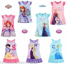 Girls Disney PRINCESS Nightie NIGHTDRESS Pyjama NIGHTGOWN Age 2 3 4 5 6 7 8 Yrs