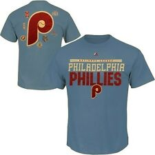 Philadelphia Phillies Majestic Cooperstown Mens 2 Sided T Shirt Big & Tall Sizes