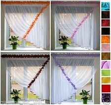 14 COLOURS CHEAP READY MADE NET CURTAINS SMALL OR MEDIUM WINDOW AMAZING FOR YOU