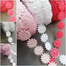 Daisy Flowers trim satin lace ribbon CRAFTS scrapbook crafts sewing