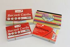 Silvine Assorted Coloured Lined Revision Record Cards x 100 Sheets - 2 SIZES