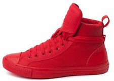 New CONVERSE Chuck Taylor All Star Hi Top Canvas/Leather Sneaker red