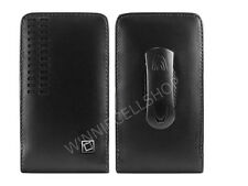 Premium Vertical Leather Fixed Swivel Belt Clip Holster Case for Alcatel Phones