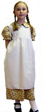 Feed sack-WW1/WW2-Girls Victorian/Edwardian FLORAL DRESS AND PINNEY SET-Costume