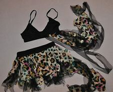 New Child size Medium or Intermediate 2 Pc Lot Skirt and Bra top with shorts