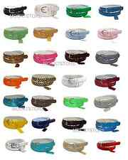WOMEN/LADIES Skinny Leather Belt 4 SIZE S / M / L / XL 52 COLORS IN STOCK