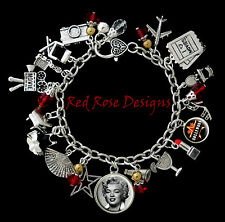 ~HOLLYWOOD MOVIE STAR CHARM BRACELET, ACTOR, ACTRESS CHOOSE YOUR OWN CELEBRITY~