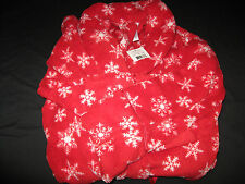 Bali Studio Woman's  Long Fleece Wrap Robe Red Snowflakes Choose size NWT!!