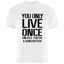 """YOLO"" syfy demon hunters winchester brothers supernatural T Shirt"