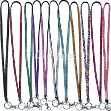Long Bling Casual Crystal Lanyard ID Badge Key Card Cell Phone Holder Necklace