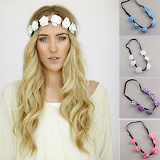 Women Bohemian Floral Flower Head Chain Jewelry Dance Hair Band Garland