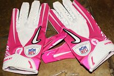GAME ISSUED BREAST CANCER NIKE VAPOR JET GLOVES VERY RARE! M L XL NFL SYNTHETIC