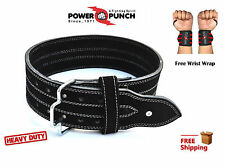 Genuine Leather Gym Power Heavy Duty Weight Lifting Bodybuildying Belt