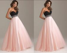 New Formal Long Evening Ball Gown Party Prom Bridesmaid Dress Stock Size 6-16