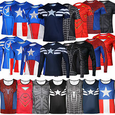 Marvel Superhero The Avengers Costume Tee Casual T-Shirt Jersey Cycling Shirts