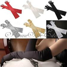 "22"" Long Satin Bridal Glove Wedding Party Prom Fancy Dress Elbow Opera Gloves"