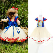 Princess Baby Kids Girl Party Bow Belt Tutu Gown Tulle Formal Dress Costume 2~7Y
