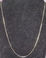 New 18K Yellow Gold Filled 1.2mm Snake Chain Necklace Lobster Clasp