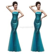 Long Formal Prom Dresses Party Evening Pageant Wedding Bandeau Tube Dress New