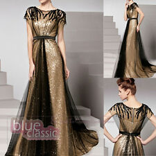 Hot Modern Luxury Long Short Sleeve Evening Dress Cocktail Party Bridal Gowns