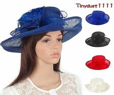 Women Church Dress Kentucky Derby Wedding Party Cocktail Sinamay Events Hats