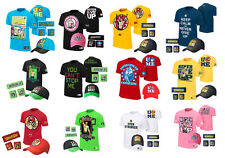 """NWT SP1281 Mens """"Never Gave Up"""" """"Best In The World"""" WWE Hat + Bracers +T Shirts"""