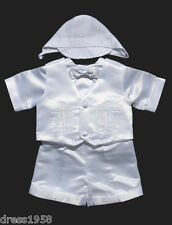 Boy Baby Toddler Christening /Baptism Outfit,  White Cross,Sz: XS to 4T