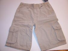 NEW Hurley khaki chino light beige long walking cargo shorts boys youth 18 or 20