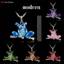 Fashion Toad Frog Necklace Pendant Long Sweater Chain Jewelry Crystal Animal New