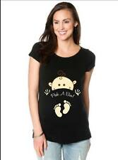 Maternity Top With A Baby PEEK-A-BOO with Feet, Funny T-shirt Pink or Black