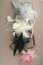 LADIES FASCINATOR FEATHER FLOWER ALICE HAIR BAND WEDDING PARTY PROM