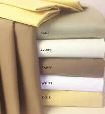 "Royal Tradition 300TC Egyptian Cotton 4pc Sheet Set 22"" Deep Pockets ALL SIZES"