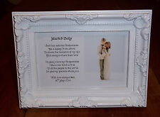 FRAMED A6 - Personalised Christening Poem gift Godchild to Godparent(s)