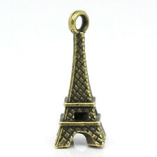 Wholesale Lots PCs Charm Pendants Eiffel Tower Bronze Tone 21mmx11mm