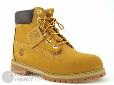 JUNIORS WOMENS UNISEX 12909 TIMBERLAND 6 inch BOOTS WHEAT NUBUCK LEATHER