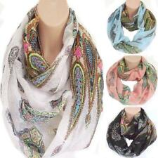 Pretty  Paisley Print Circle Loop Infinity Scarf Snood New Spring Summer Style